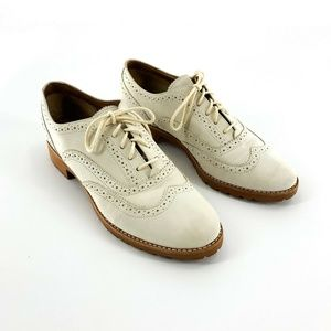 Sperry Cream Suede Oxford Shoes